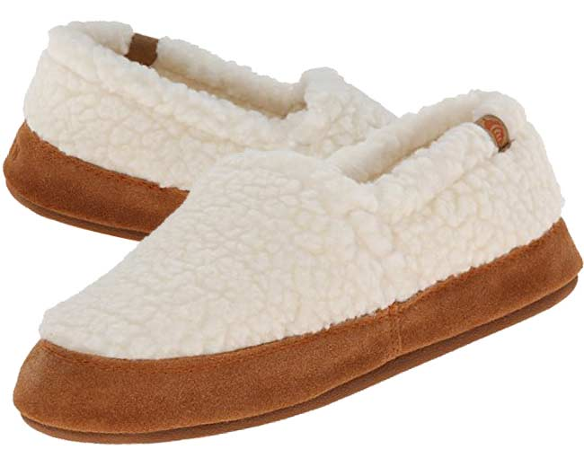 Acorn Mocs are simply the best choice for men and women who have to walk on hardwood floors with their slippers