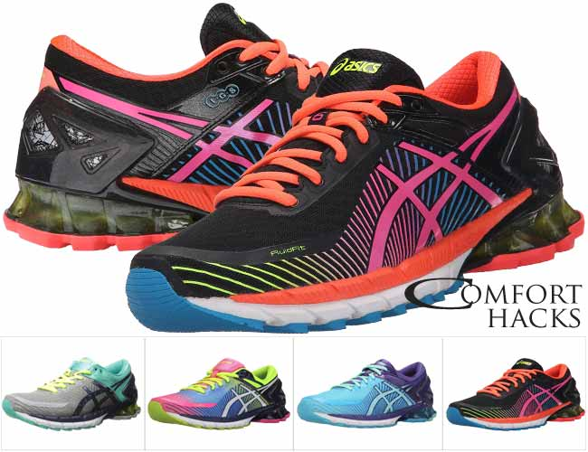 ASICS GEL-Kinsei 6 is our #1 women's pick for best running shoes for high arches
