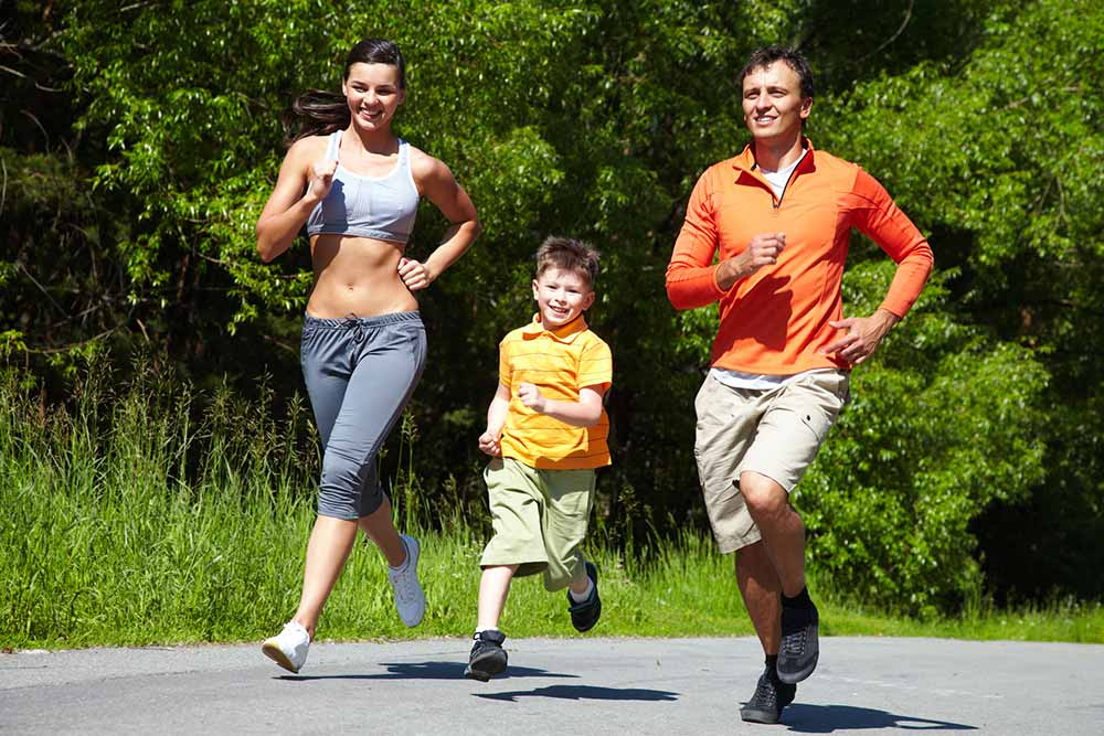 family-running-together